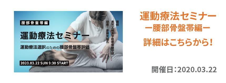運動療法セミナー 腰部骨盤帯編